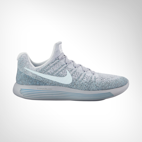 save off 14b00 5c1dd Men s Nike LunarEpic Low Flyknit 2 Grey Blue Shoe