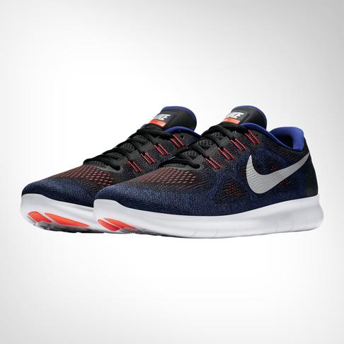 b09ef059a675 Men s Nike Free RN 2017 Black Silver Shoe