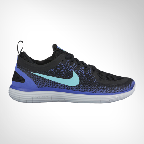 new arrival de3ee 39151 Women s Nike Free RN Distance 2 Black Purple Shoe