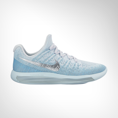 best loved purchase cheap crazy price Women's Nike LunarEpic Low Flyknit 2 Blue/Silver Shoe