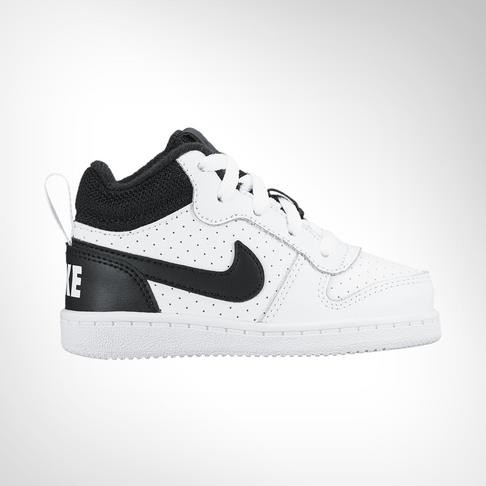 13261c2763bd8 Infants  Nike Court Borough Mid White Black Shoe