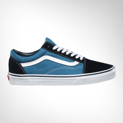 2dd4a819d2ecc7 Men s Vans Old Skool Navy Blue Black Shoe