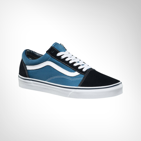 Men s Vans Old Skool Navy Blue Black Shoe 29d6ca490bef