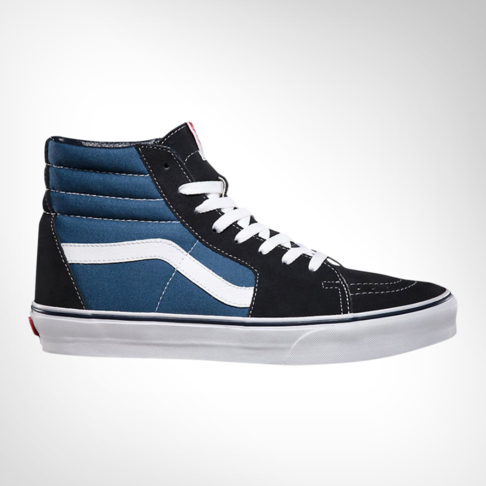 940e502112 Men s Vans SK8-HI Navy Blue Black Shoe