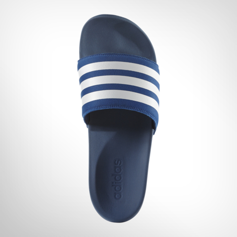 28c7144c2 Men s adidas Adilette Cloudfoam Plus Blue White Slide