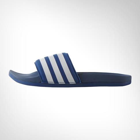 2f9325449cb161 Men s adidas Adilette Cloudfoam Plus Blue White Slide