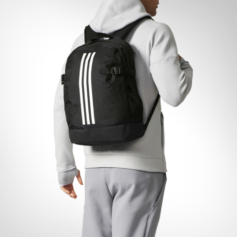 adidas 3-stripes Power Medium Black Backpack 963f88a3ad62f