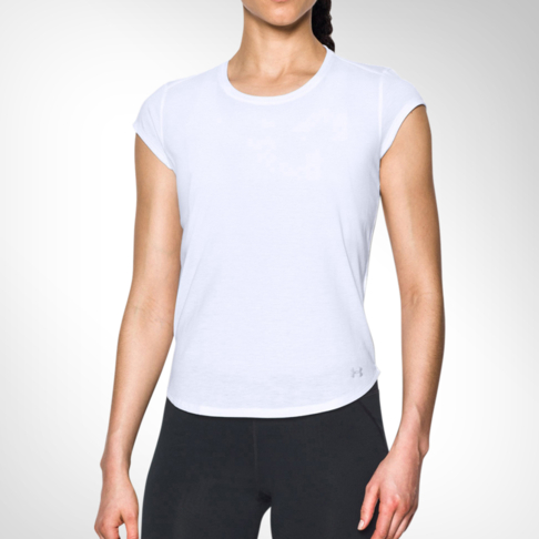 e3ce254a Women's Under Armour Threadborne™ Mesh White Short Sleeve Tee
