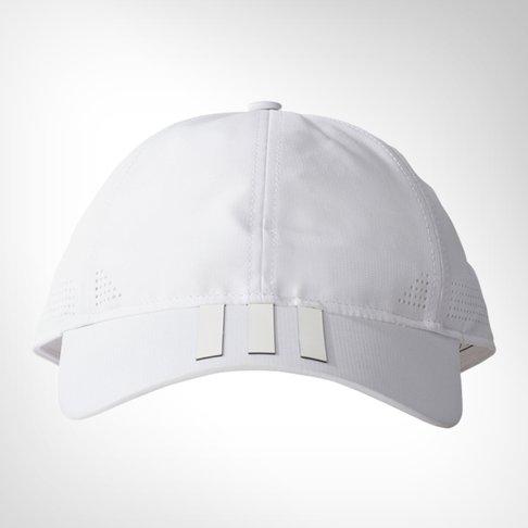 a1daac599c5 adidas 6-panel Climacool 3-stripes White Cap