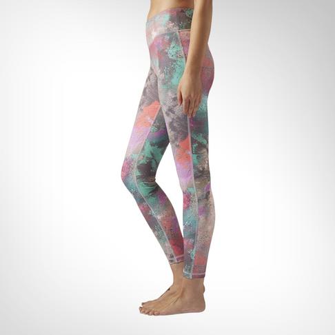 d89552eeeee Women's Reebok Lux Bold Chalked Print Legging