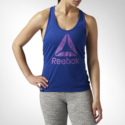 85e58f75758b5d Women s Reebok Workout Ready Supremium 2.0 Blue Tank