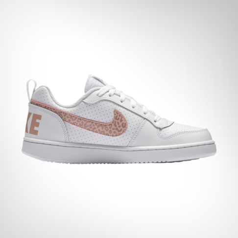 competitive price 8cd18 a25c1 Junior Grade School Nike Court Borough Low White Pink Shoe