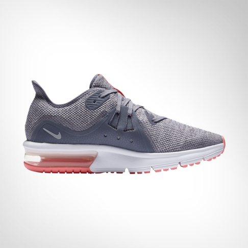 the best attitude 1752a b93ae Junior Grade School Nike Air Max Sequent 3 Grey Pink Shoe