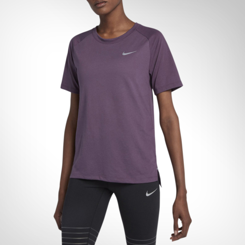 abdf9be7 Women's Nike Tailwind Short-Sleeve Purple Running Top