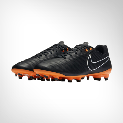 Men s Nike Tiempo Legend 7 Academy FG Black Orange Boot 71090db1d