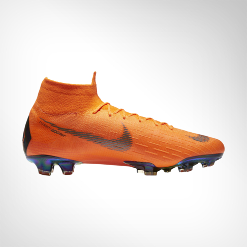 fast delivery big sale on feet images of Men's Nike Mercurial Superfly 6 Elite DF FG Orange/White Boot