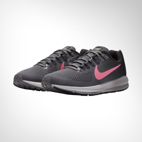 ab6bc983e421 Women s Nike Air Zoom Structure 21 Grey Pink Shoe