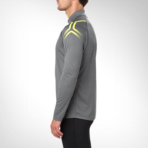 de11be11b9 Men's Asics Icon Long Sleeve 1/2 Zip Grey Top