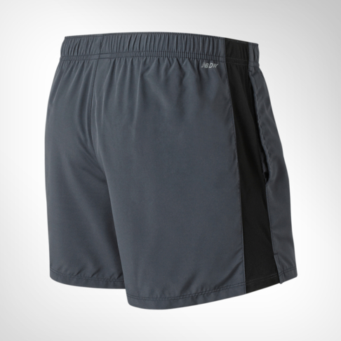 451e2b91ec377 Men's New Balance Accelerate 5 Inch Grey/Black Short