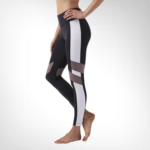 1d76d98304 Women's Reebok Lux Legging Colour Block Black Tight
