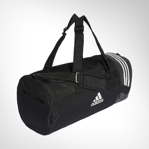 5e28eb65a5 adidas Convertible 3-stripes Medium Black Duffel Bag