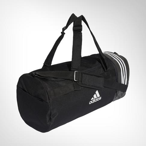 fe0f18a31 adidas Convertible 3-stripes Medium Black Duffel Bag
