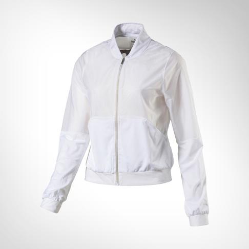 9b5dc8ce8401 Women s Puma En Pointe Q2 Zip-Up White Jacket