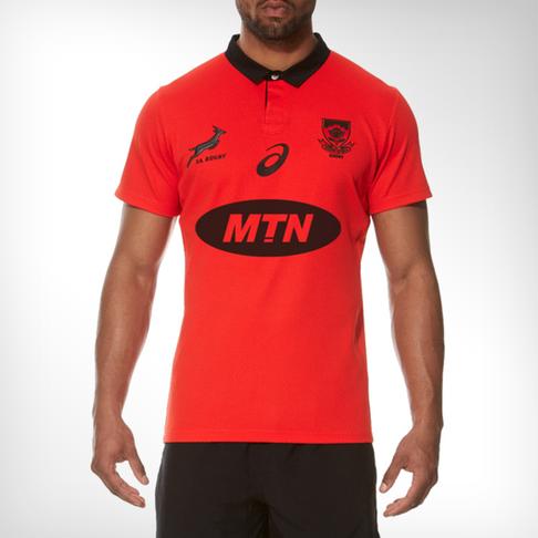 33a7963ee480 Men s Asics Springbok Away Red Jersey