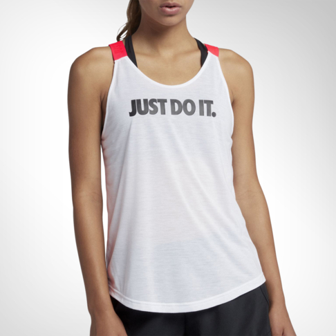 208edbaeec035 Women s Nike Breathe Elastika White Red Training Tank