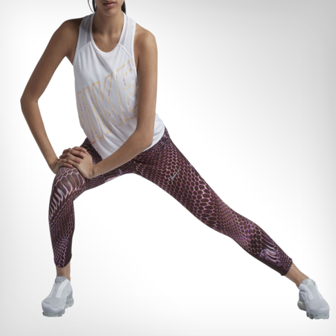 Women s Nike Power Epic Lux Printed Pink Running Tights 91dc719827ef