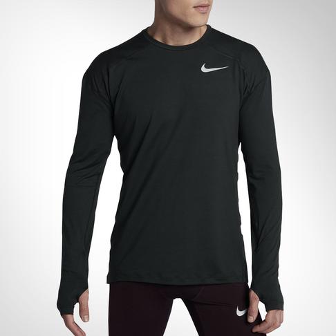 7e3754d8 Men's Nike Dry Element Long Sleeve Black Running Top