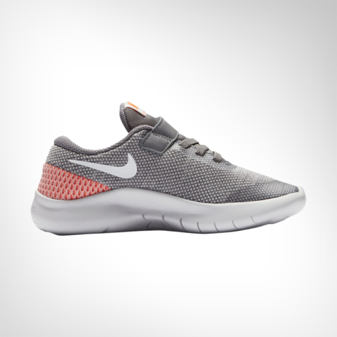069255da3d45 Junior Pre-School Nike Flex Experience RN 7 Grey Red Shoe
