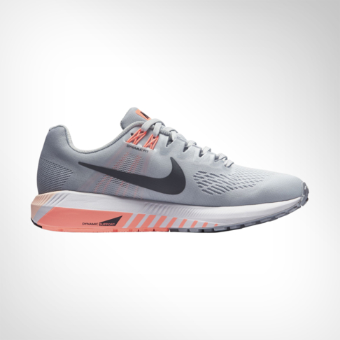 1a0cd1306a62 Women s Nike Air Zoom Structure 21 Grey Pink Shoe