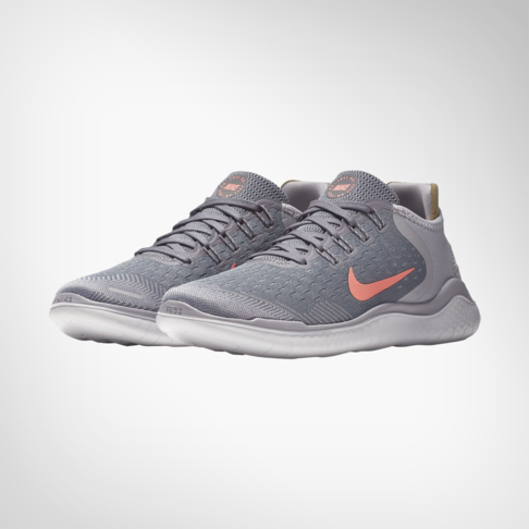 4a081b0df71 Women s Nike Free RN 2018 Grey Peach Shoe