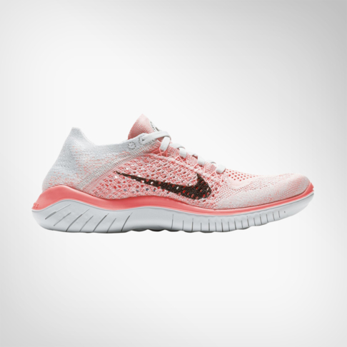premium selection ec806 64bed Women's Nike Free RN Flyknit 2018 Peach/Grey Shoe