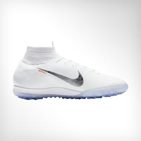 factory price 8f7c7 12fd6 Men s Nike SuperflyX 6 Elite White Grey Turf Boot