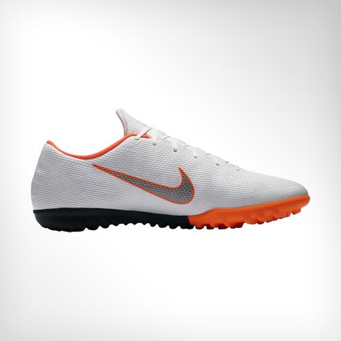 quality design 01a5e 94081 Men s Nike VaporX 12 Academy TF White Grey Orange Boot