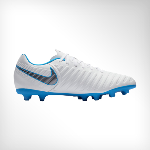 size 40 53cbe 9b593 Men s Nike Tiempo Legend 7 Club FG White Grey Blue Boot