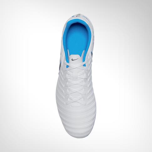 f5e334fd8a2 Men s Nike Tiempo Legend 7 Club FG White Grey Blue Boot