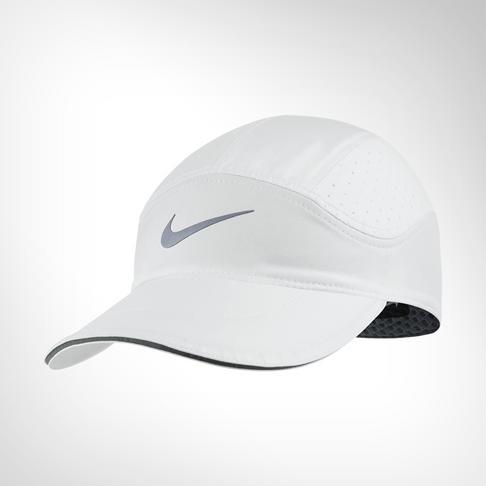 0bdded943275b Nike AeroBill White Running Cap