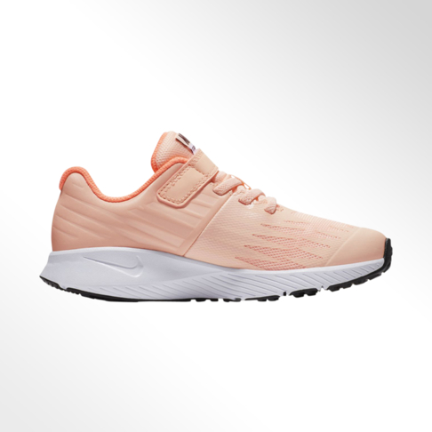 brand new 1f38f bd071 Junior Pre-School Nike Star Runner Peach White Shoe