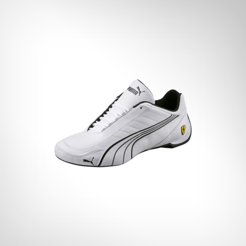 8c067c7079c Men s Puma Ferrari SF Future Kart Cat White Black Shoe
