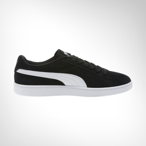 2c0204209e3d Men s Puma Smash V2 Suede Black White Shoe