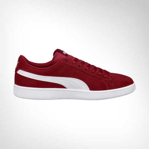 Men s Puma Smash V2 Suede Burgundy Shoe 16590da0a