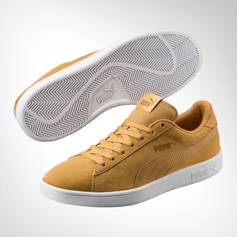 finest selection 8abb0 af96f Men's Puma Smash V2 Suede Mustard Shoe