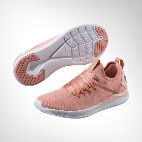 huge discount 8a0b2 114d5 Women's Puma Ignite Flash EvoKnit Peach Shoe