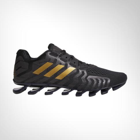 newest f0f1f f1ac8 Men s adidas Springblade Pro Black Gold Shoe
