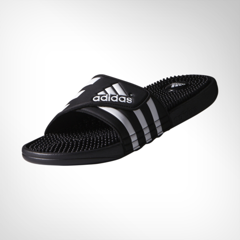 711fdf3d87a4 Men s adidas Adissage Black White Sandal