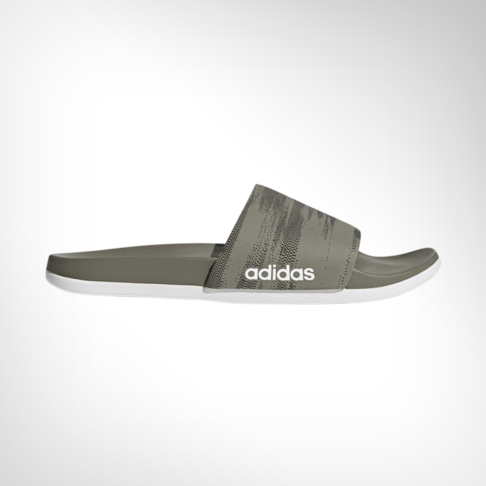 low priced c80d0 60cad Mens adidas Adilette Cloudfoam + Khaki Slide