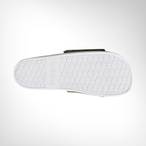 low priced da553 8f9b9 Mens adidas Adilette Cloudfoam + Khaki Slide